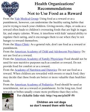 Food as RewardInfographic