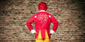 #RonaldMcDonald's New Look?#MomsNotLovinIt